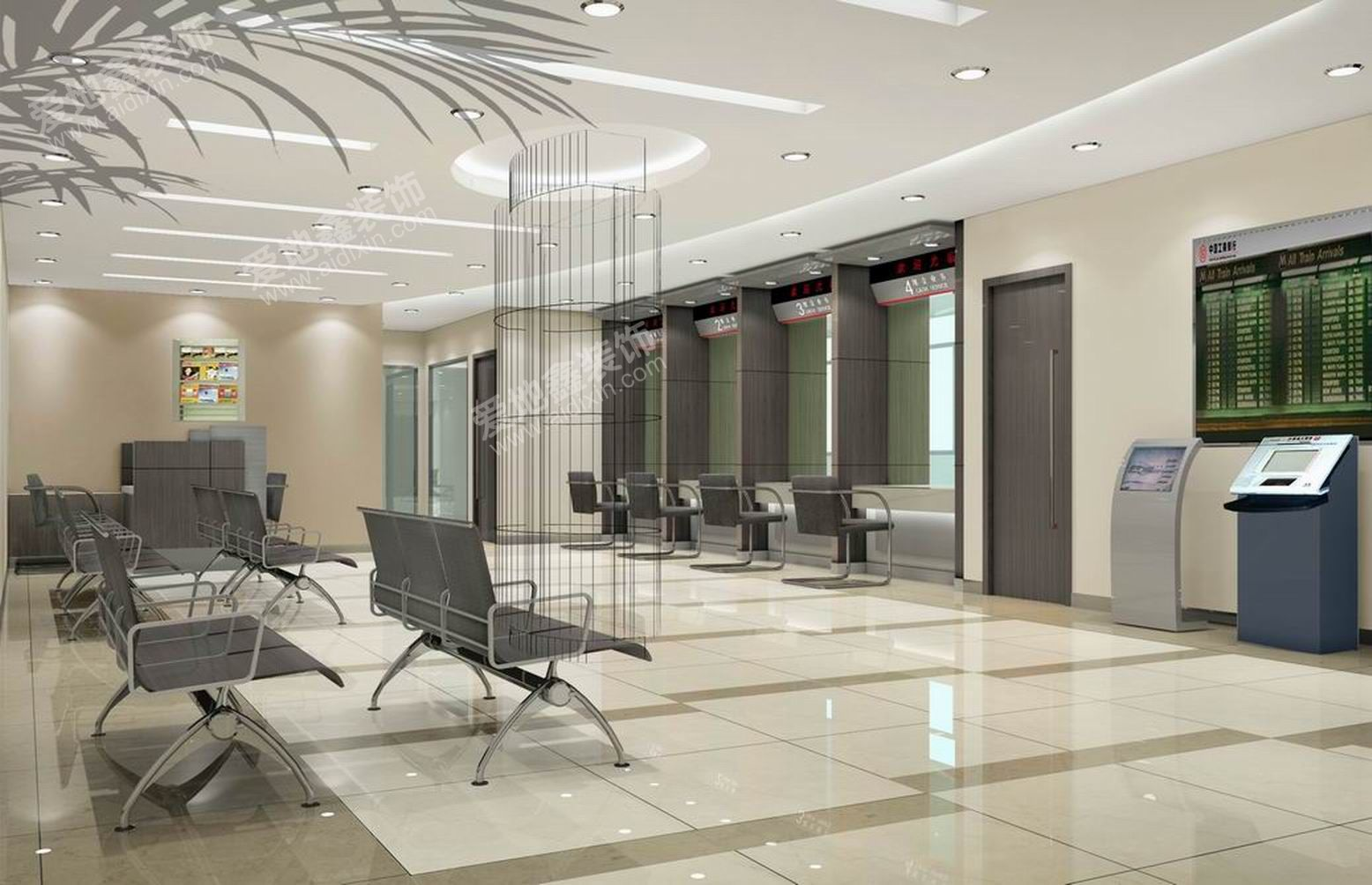 Characteristics:interior industrial and commercial bank of china xinjiekou sub branch